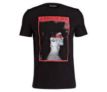 T-Shirt - schwarz/ rot