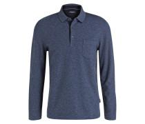 Piqué-Poloshirt - marine meliert
