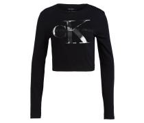 Cropped-Shirt - schwarz