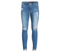 Destroyed-Jeans THE MIDDI ANKLE - blue