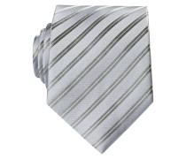 Krawatte - silber gestreift