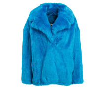 Jacke in  Fell-Optik - blau