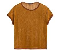 Kurzarm-Pullover mit Glitzergarn