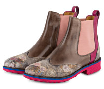 Chelsea-Boots AMELIE 13 - pink/ braun