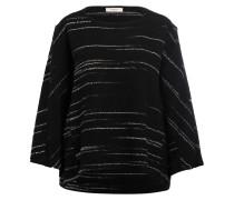 Pullover mit 3/4-Arm - schwarz/ weiss