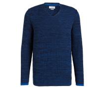 Pullover - blau/ schwarz