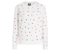 Sweatshirt - weiss/ rot