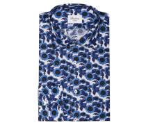 Hemd Slimline - blau/ weiss/ navy
