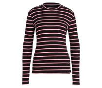 Pullover - schwarz/ rot/ weiss gestreift