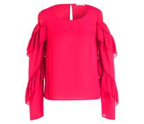 Cold-Shoulder-Bluse - pink