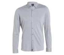 Jerseyhemd SPENC-J Slim-Fit - grau meliert