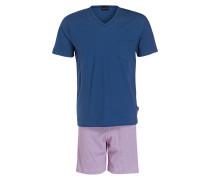 Shorty-Schlafanzug - blau