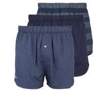 3er-Pack Web-Boxershorts - blau