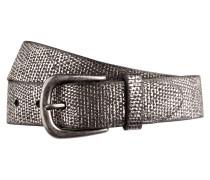 Ledergürtel - schwarz/ silber
