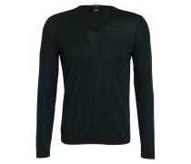Schurwoll-Pullover MELBA-P - dunkelgrün