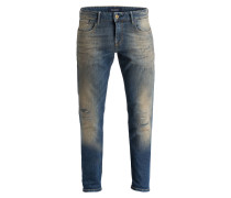 Destroyed-Jeans TYE Slim Carrot-Fit