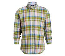 Hemd Modern-Fit - grün/ rosa/ blau