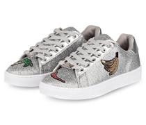 Sneaker mit Patches - grau