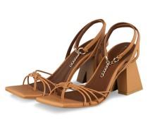 Sandaletten CACTUS - HELLBRAUN