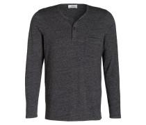 Henley-Shirt SERAFINO - dunkelgrau meliert