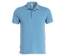 Piqué-Poloshirt - blaugrau