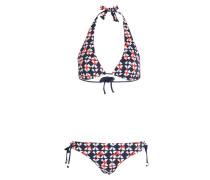Neckholder-Bikini TIZIA - blau