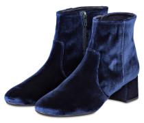 Samt-Stiefeletten KARISI - blau