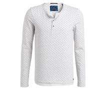 Henley-Shirt - weiss