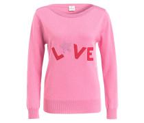 Pullover LOVE mit Cashmere-Anteil - pink