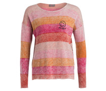 Pullover - apricot/ rosa/ rot