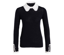 Pullover MADAME - navy/ weiss