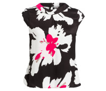 Blusenshirt - schwarz/ weiss/ pink