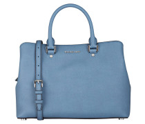 Saffiano-Handtasche SAVANNAH - blau