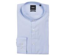Hemd SOLON Slim-Fit mit Stehkragen - blau