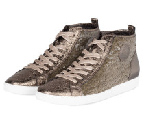 Hightop-Sneaker mit Pailletten
