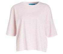 T-Shirt - weiss/ altrosa