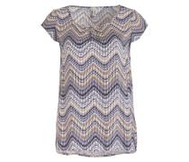 T-Shirt SELENA 3 - blau/ weiss/ braun