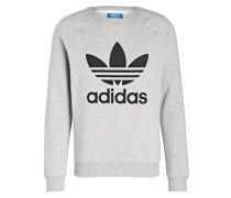 Sweatshirt TREFOIL - grau meliert
