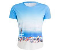 T-Shirt HAMPTONS BEACH - blau