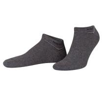 2er-Pack Sneakersocken - schwarz