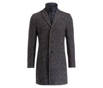 Mantel mit abnehmbarer Blende - grau