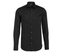Twill-Hemd STEEL Slim-Fit - schwarz