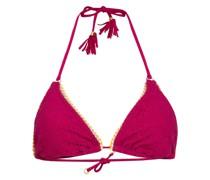 Triangel-Bikini-Top CROCHET GLEO mit Glitzergarn