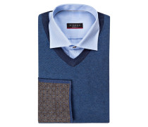 Set: Hemd Modern-Fit, Pullover und Einstecktuch