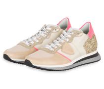 Sneaker MONDIAL GLITTER - BEIGE/ GOLD