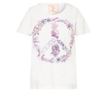 T-Shirt PEACE mit Pailletten