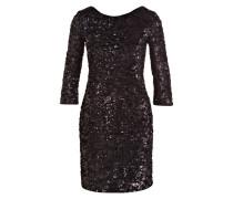 Kleid mit Paillettenbesatz - schwarz