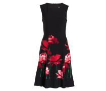 Kleid - schwarz/ rot/ grün