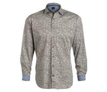 Hemd Casual modern fit - khaki/ weiss