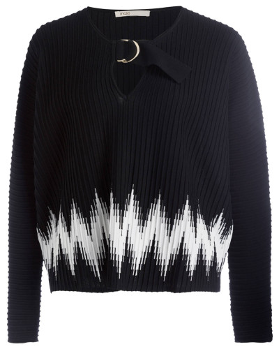 Pullover - schwarz/ weiss